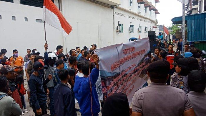 Warga Pulau Dompak Tanjungpinang Ajukan Empat Tuntutan Kepada Pengembang Dalam Unjuk Rasa