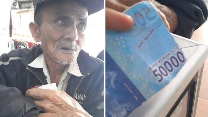 Seorang Kakek Ditipu Pembeli dengan Uang Mainan, Sedih Saat Uangnya Ditolak Beli Obat di Apotek