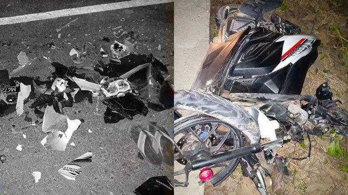 Motor Ngebut Tanpa Nyala Lampu, Suzuki Satria Tabrak Honda Vario Hingga Terpental,  1 Orang Tewas