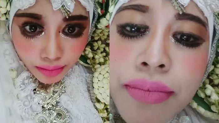 VIRAL di TikTok Bulu Mata Pengantin Wanita Terpasang di Bawah Mata, Reaksi Calon Suami Mengejutkan