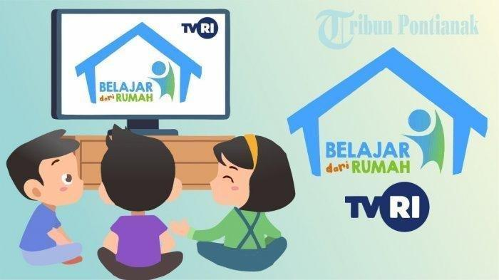 ILUSTRASI Belajar dari Rumah di TVRI