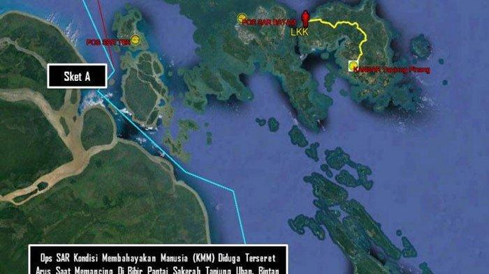 Breaking News, Pemancing Hilang Diduga Terseret Arus di Pantai Sakera Bintan