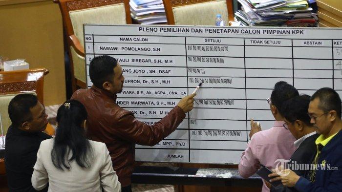 Inilah5 Nama Pimpinan KPK Terpilih Masa Bakti 2019-2023,Firli Bahuri Peroleh Suara Terbanyak