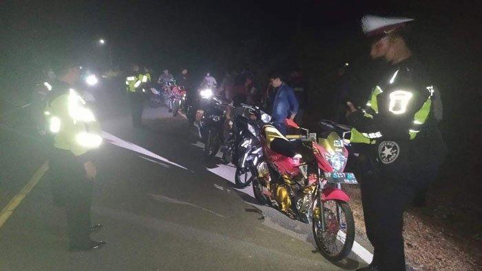 Balap Liar di Bintan, Belasan Remaja Kocar-kacir Dirazia Polisi, Ada yang Sembunyi