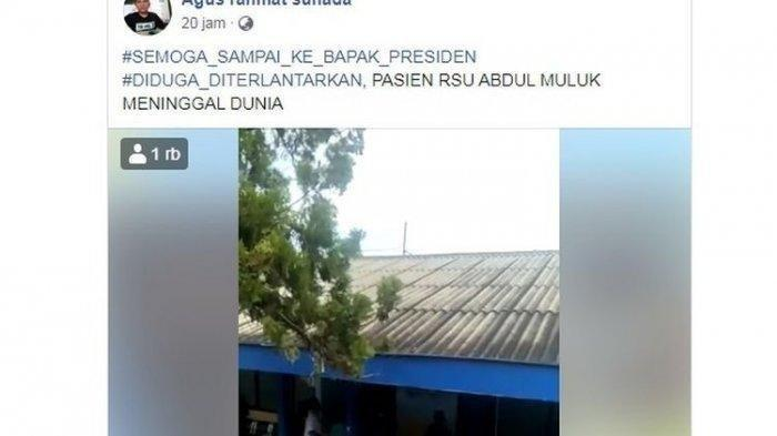 Viral Video Pasien BPJS Meninggal Tak Dapat Ruangan, Keluarga Menjerit: Ternyata di Kuburan