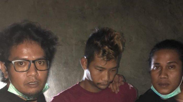 Tim unit Jatanras Polda Kepri, Jatanras Polresta Barelang dan Jatanras polres Tanjungpinang berhasil mengamankan pelaku pembunuhan Reni (kaos merah)
