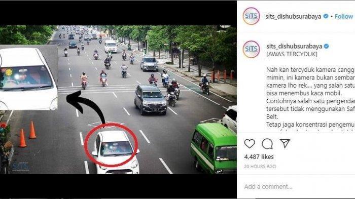 CCTV Lalu Lintas Rekam Pengendara Mobil Putih yang Mencurigakan, Dishub Surabaya: Nah Kan Terciduk