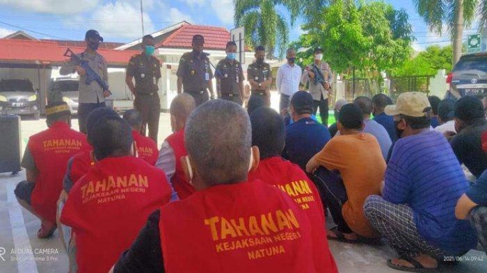 30 Terpidana Kasus Illegal Fishing di Natuna Dieksekusi ke 2 Lokasi di Tanjungpinang
