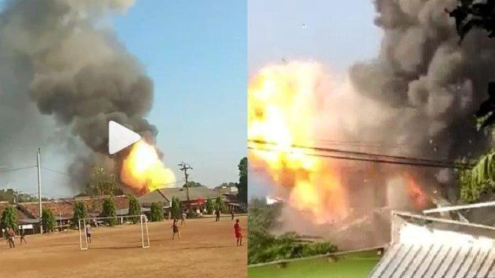 Video Detik-detik Gudang Senjata Brimob Meledak, Warga Berhamburan. Ilustrasi