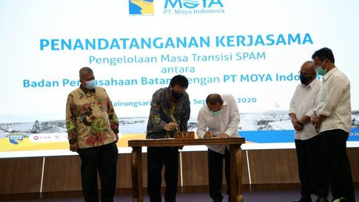 PT Moya Indonesia Kelola Air Bersih di Batam Gantikan ATB, Teken Kontrak hingga 15 Mei 2021
