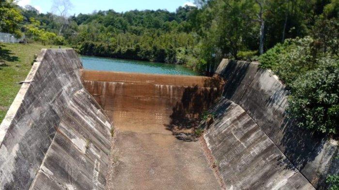 Air Waduk Nongsa Batam Kian Menyusut, Batam Terancam Susah Air Bersih, Lihat Foto-fotonya