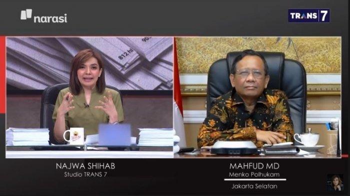 Akhirnya Mahfud MD Blak-blakan di Mata Najwa Siapa Sebenarnya Dalang Demo Rusuh UU Cipta Kerja