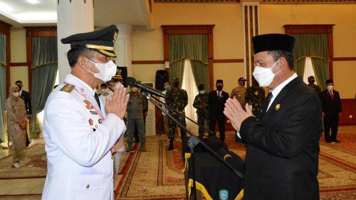 Gubernur Kepri Ansar Ahmad dan Wali Kota Batam Muhammad Rudi, Senin (15/3/2021)