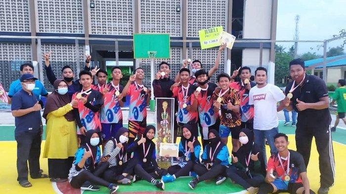 Daftar Pemenang POAS Bola Volly di Lingga, SMKN 1 dan SMAN 2 Singkep Bawa Piala Bergilir