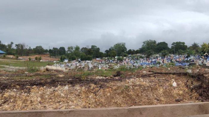MAKAM BIRGALDO SINAGA - Suasana Blok B Khusus Covid-19 TPU Sei Temiang, Lokasi Birgaldo Sinaga dimakamkan, Sabtu (15/5/2021) sore.
