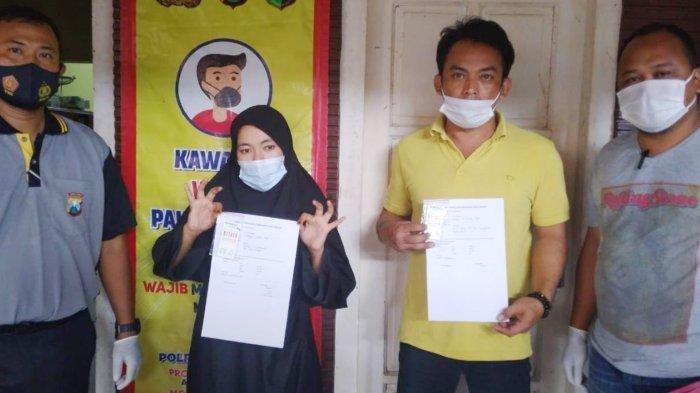 Kepala Desa Karangwedoro, Subandi dan selingkuhannya, RI menunjukkan hasil tes urine yang dinyatakan positif mengonsumsi sabu - sabu