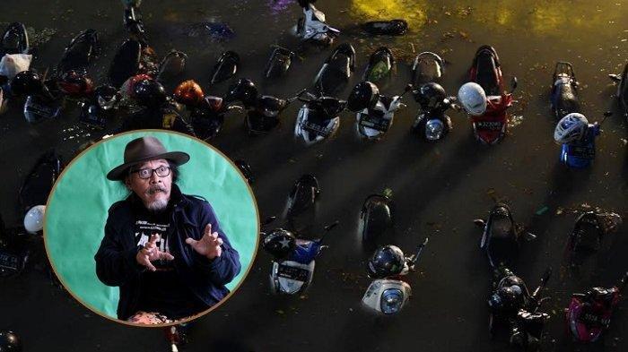 Surabaya Diterjang Banjir Setinggi Spion Motor, Sudjiwo Tedjo Kaget: Surabaya Apa Jakarta Sih?