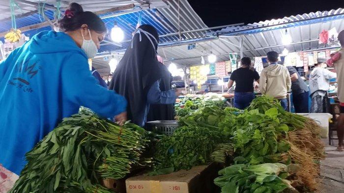 HARGA Sayur di Pasar Tos 3000 Batam Turun Drastis, Bayam Sekilo Rp 5.000
