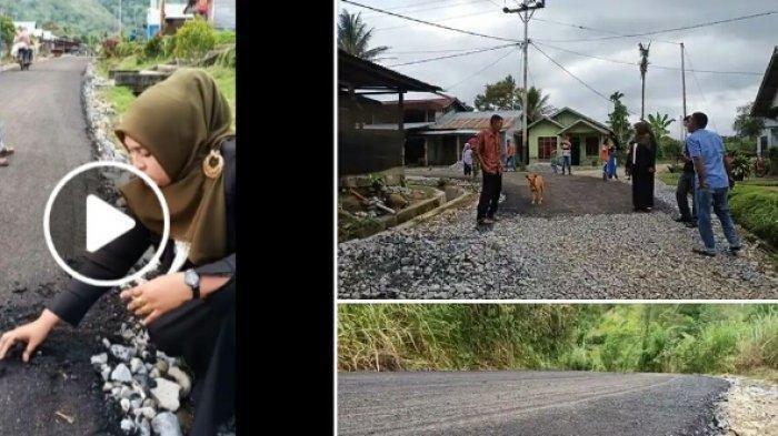 VIRAL! Video Seorang Pejabat Wanita Garuk Jalan Aspal Pakai Tangan Demi Buktikan Ini