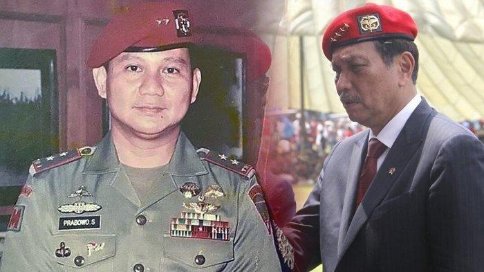 Mendadak Prabowo Pamer Foto Baret Merah di Instagram, Luhut Curhat Pengalamannya soal Ini