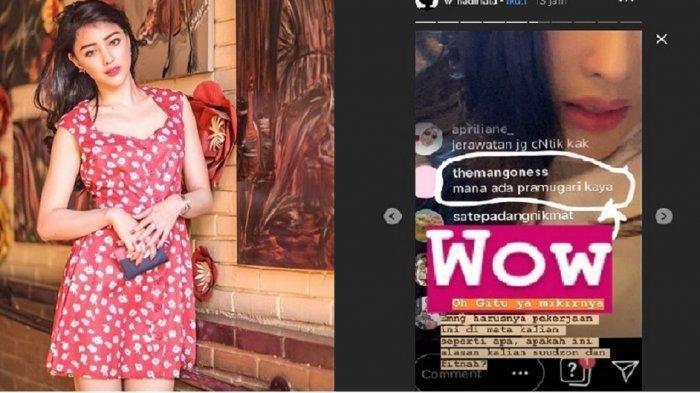 Siwi Widi Posting Tulisan Soal 'Pramugari Kaya': WOW Apakah Ini Alasan Kalian Suudzon dan Fitnah?