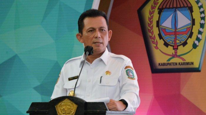 Gubernur Kepulauan Riau (Kepri), Ansar Ahmad saat membuka Musyawarah Perencanaan dan Pembangunan (Musrenbang) Karimun di Aula Kantor Bupati, Rabu (17/3/2021).