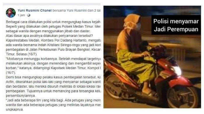 Aksi Polisi Pakai Daster dan Jilbab Nyamar Jadi Emak-emak VIRAL, Berhasil Ciduk 3 Begal Sekaligus