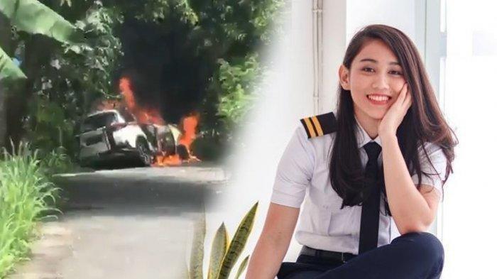 Kondisi Terkini Pilot Athira Farina, Mobil Tabrak Pohon Dan  Terbakar Hebat saat Melaju di Jalan