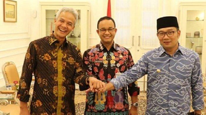 Ganjar Pranowo, Anies Baswedan dan Ridwan Kamil. (Capture Instagram)