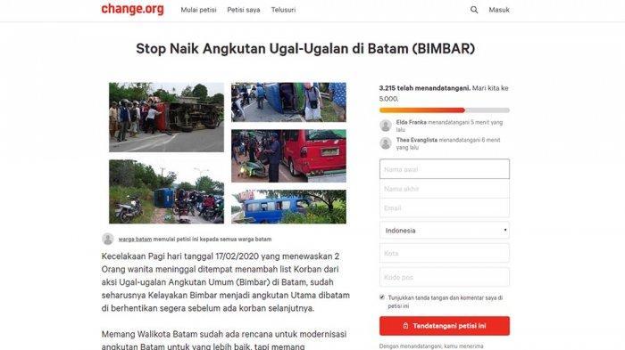 3.000 Orang Tandatangani Petisi STOP Naik Bimbar Batam, Simak Sejumlah Alasan Masyarakat