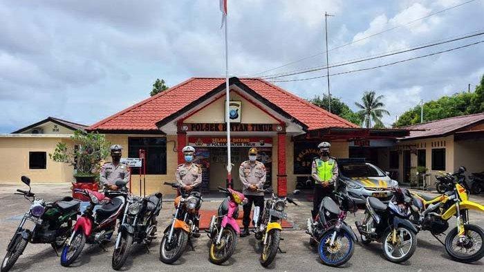 Polsek Bintan Timur 'Sikat' Motor Knalpot Brong