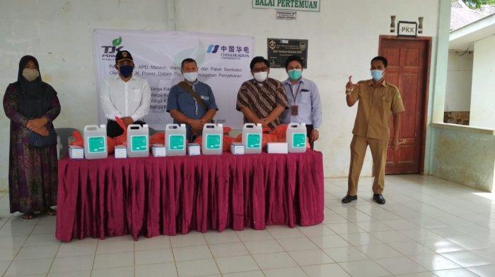 Cegah Penyebaran Corona, PT TJK Power Bagikan Masker, Hand Sanitizer & Sembako ke Warga di 4 Kampung