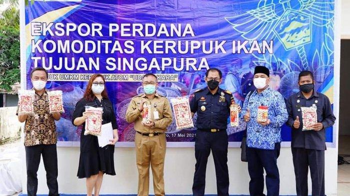 Kerupuk Atom Khas Moro Karimun Tembus Pasar Singapura di Tengah Pandemi Covid