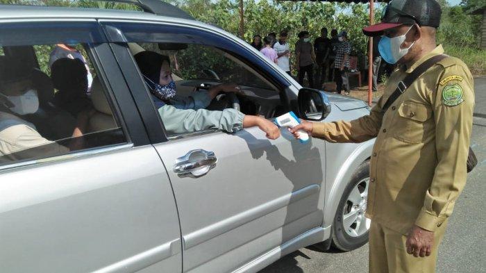 Ikuti Instruksi Bupati Lingga, Desa Tinjul Perketat Pintu Masuk Desa Tekan Covid