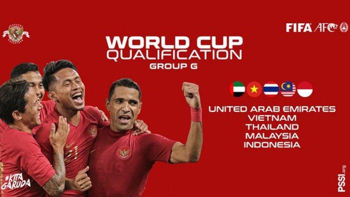 Jadwal Timnas Indonesia di Kualifikasi Piala Dunia 2022, Indonesia Satu Grup dengan Malaysia