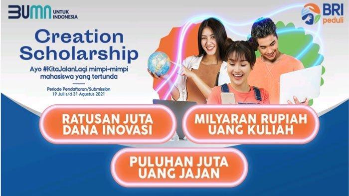 BRI Gelar Beasiswa untuk Mahasiswa, Pendaftaran Mulai 19 Juli hingga 31 Agustus 2021