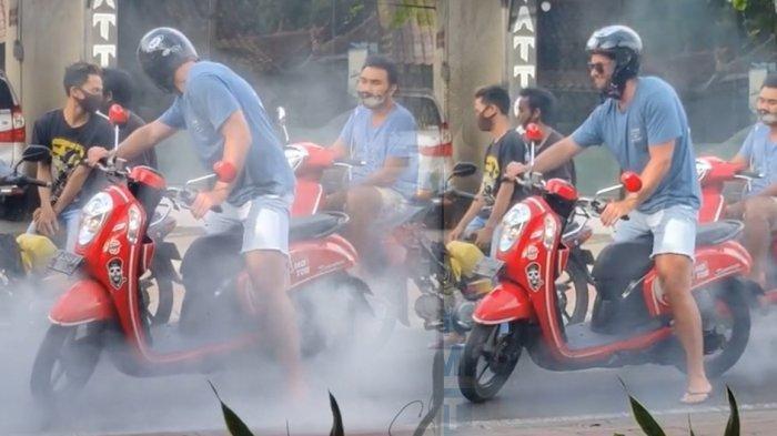 Viral Bule di Bali Ngegas Motor Sampai Berasap Saat Macet di Jalan, Sempat Ditegur Pengendara Lain