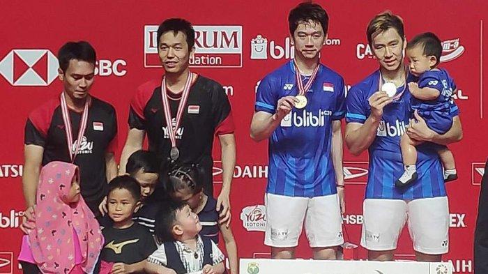 Hasil Final Indonesia Master 2020, Kalahkan Ahsan/Hendra, Marcus/Kevin Juara Ganda Putra