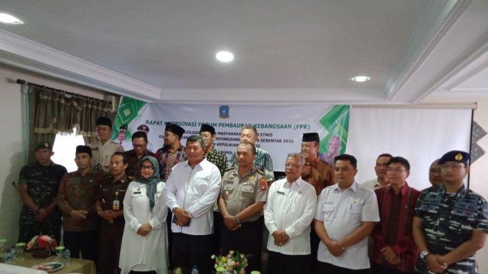 Tingkatkan Toleransi Jelang Pilkada 2020, Bakesbangpol Gelar Rakor FPK Bersama Lintas Etnis