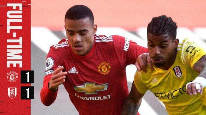 Hasil Manchester United vs Fulham, Gol Indah Edinson Cavani Dibalas Gol Joe Bryan, Man United Imbang