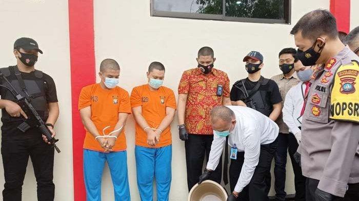 Tiga Kg Sabu dalam Teh Cina Dimusnahkan, Disiram Pakai Air Panas