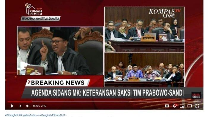 5 Link Live Streaming Sidang MK Sengketa Pilpres 2019 Mulai Jam 13.00 WIB via Kompas TV dan TVOne