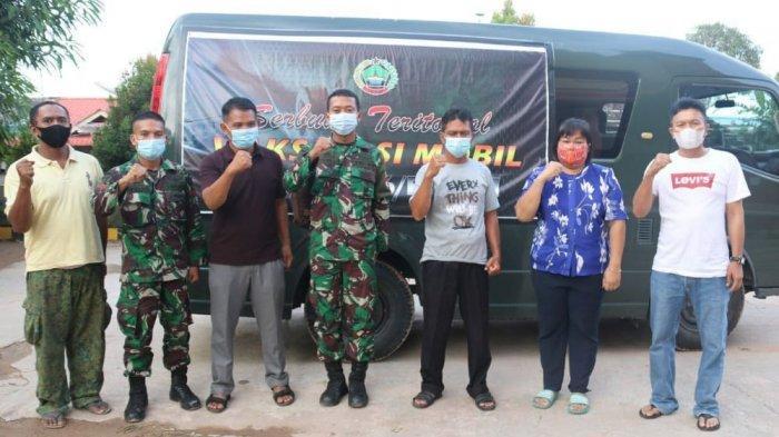 Vaksinasi Covid-19 di GOR Temenggung Abdul Jamal Batam Dibantu Tim Vaksinasi Korem 033/WP