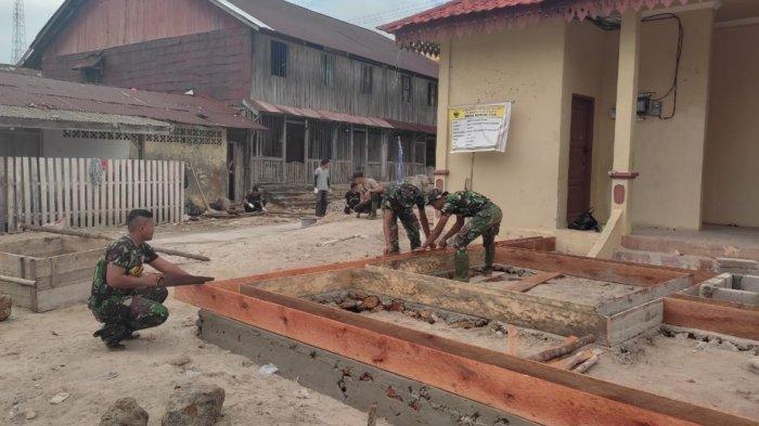 TMMD 2021 di Lingga, Kodim 0315/Bintan Bangun Pos Kamling di Desa Marok Tua