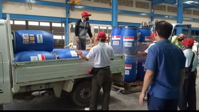 Dua Perusahaan Bantu Distribusi Hand Sanitizer untuk 12 Kecamatan di Batam Cegah Virus Corona