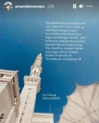 Amanda Manopo Mau Buat Masjid, Minta Masukan ke Penggemar Terkait Lokasi