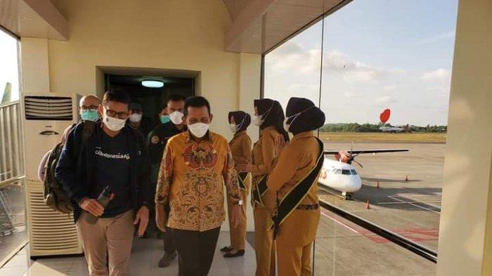 Menteri Pariwisata dan Ekonomi Kreatif, Sandiaga Salahuddin Uno berkunjung ke Provinsi Kepulauan Riau, Sabtu (20/3/2021).