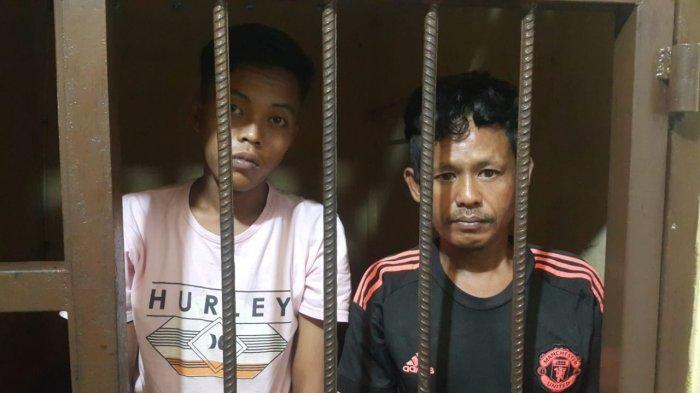 Dua pelaku curat yang dibekuk Unit Reskrim Polsek Tanjungpinang Kota, belum lama ini. Dua pelaku membobol ruang Tata Usaha (TU) di SMPN 9 Pulau Penyengat, Kota Tanjungpinang.