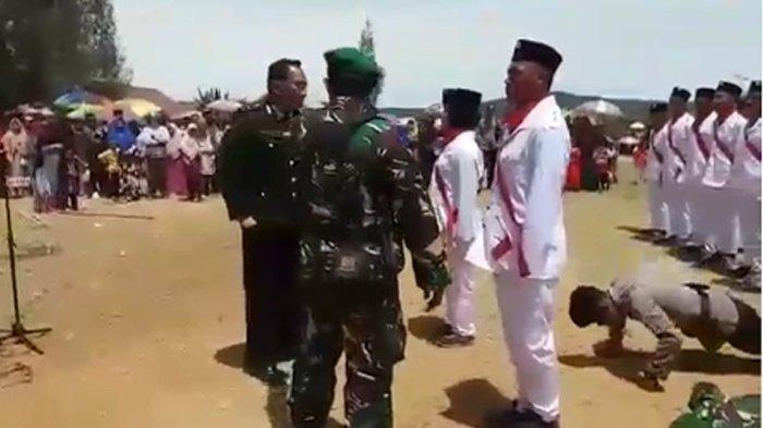 Video Viral Polisi Tendang TNI hingga Jatuh Cuma Prank di HUT ke-74 RI, Berakhir Bahagia