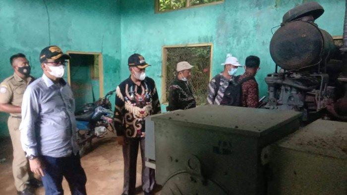 DPRD Natuna saat melakukan peninjauan aset di Kecamatan Pulau Tiga belum lama ini